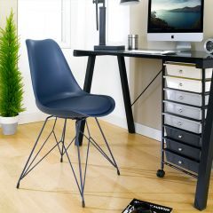Eiffel-Dark Blue  Chair