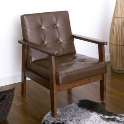 DT-1901-Coffee-PU  Single Chair