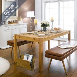 Cope-Nora-1400-6  Dining Set (1 Table + 2 Benches)