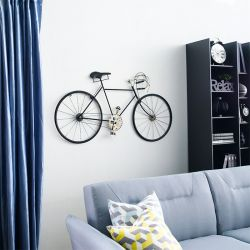 WI42546-Antique Black  Bicycle Wall Art