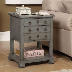 78723  2-Drawer Side Table