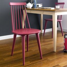 Julie-Red  Wooden Chair