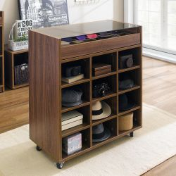 SG-5000-Walnut Display Cabinet