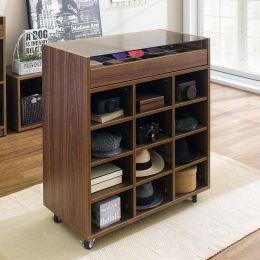 SG-5000-Walnut Display Cabinet