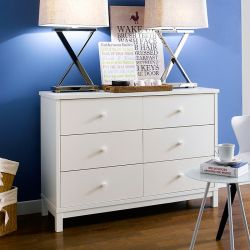 Atlanta-White 6-Drawer Dresser