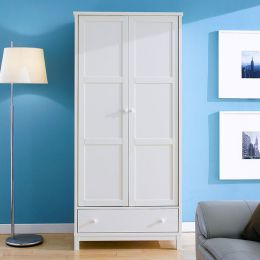 Atlanta-White  Double Wardrobe