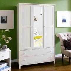 Atlanta-White  Triple Wardrobe