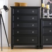 Tamarack-Black  5-Drawer Chest