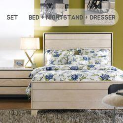 Heather  Queen Panel Bed (침대+협탁+화장대+거울)