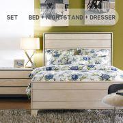 Heather  King Panel Bed  (침대+협탁+화장대+거울)