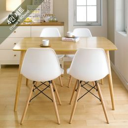 Sarah-White-4  Dining Set (1 Table + 4 Chairs)