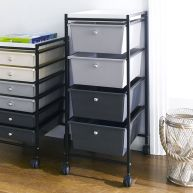G304AB-BK  4-Drawer Cart