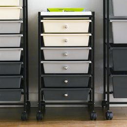 G306B-BK  6-Drawer Cart