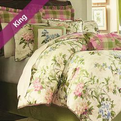 Garden Path  King Comforter ~100% Cotton~ (솜이불+베개커버 2개)(Size: 213 cm x 230 cm)