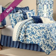 Spring Flowers  King Comforter ~100% Cotton~ (솜이불+베개커버 2개)(Size: 213 cm x 230 cm)