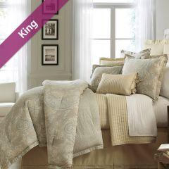 Villa Azzano  King Comforter ~100% Cotton~ (솜이불+베개커버 2개) (Size: 213 cm x 230 cm)