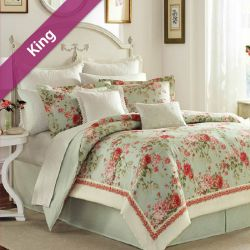 Vivienne  King Comforter ~100% Cotton~ (솜이불+베개커버 2개)(Size: 213 cm x 230 cm)