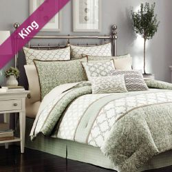 Raeland  King Comforter ~100% Cotton~ (솜이불+베개커버 2개)(Size: 213 cm x 230 cm)