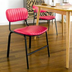 Veronica-Red Metal Chair
