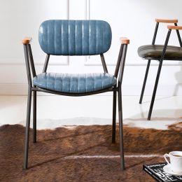 Miranda-Blue  Metal Chair
