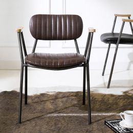 Miranda-Brown  Metal Chair