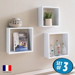 DSX3-Cube-White  Wall Shelf