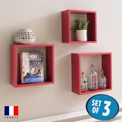 DSX3-Cube-Red  Wall Shelf