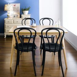 Gina-Black-4  Dining Set (1 Table + 4 Chairs)