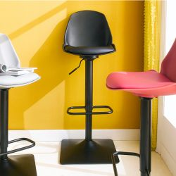 Cory-Black  Bar Chair