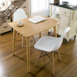 Sarah-White-2  Dining Set (1 Table + 2 Chairs)