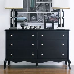 B2185-22-Black  Drawer Dresser