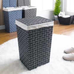 P16-1661-Black  Laundry Basket