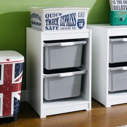 Kreo-WHT-GRY-2  Storage Box