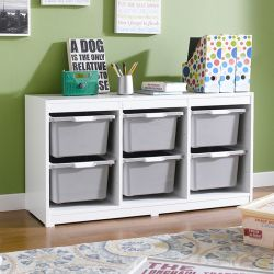 Kreo-WHT-GRY-6  Storage Box