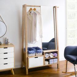 New York Clothes Hanger w/ Mirror