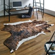 Hide Brown  Area Rug