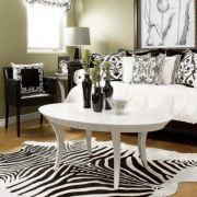 Hide Zebra  Area Rug