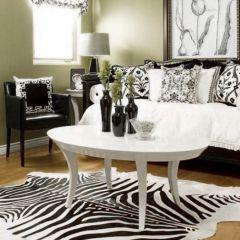 Hide Zebra  Area Rug