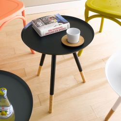 Mozilo-Black  Round Table