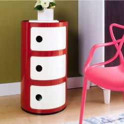 PP-663-Red   Side Cabinet