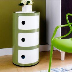 PP-663-Green   Side Cabinet
