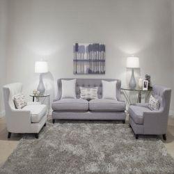 U3822-20-076  Grey Sofa
