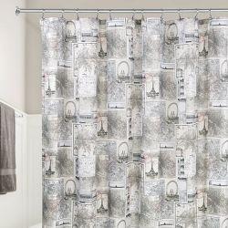 58020ES  Paris Shower Curtain  (Size: 183cm x 183cm)