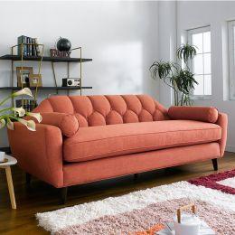 DU9066-20-Orange  3-Seater Sofa