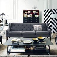 Alfred-Dark Grey  3-Seater Sofa