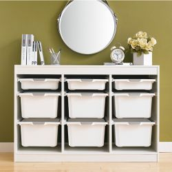 Kreo-WHT-WHT-9  Storage Box