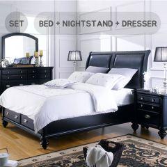 Domain  Queen Panel Bed  (침대+협탁+화장대+거울)