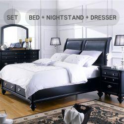 Domain  King Panel Bed  (침대+협탁+화장대+거울)