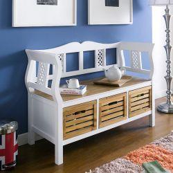 Henni  3-Storage Bench