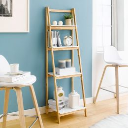NH6832B-White  4-Shelf Rack